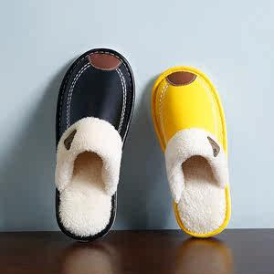 毛毛鞋<span class=H>拖鞋</span>女冬外穿防水厚底学生女童新款毛绒保暖冬天男潮冬季