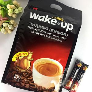 越南进口<span class=H>威拿</span><span class=H>wakeup</span>猫屎<span class=H>咖啡</span>味三合一速溶<span class=H>咖啡</span>粉100条即溶1700g