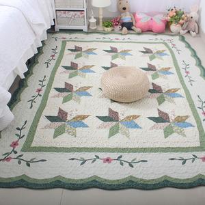 韩式田园宝宝卧室纯棉加厚沙发布艺<span class=H>地垫</span>整体客厅爬行垫地毯居家垫