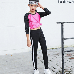 女童<span class=H>运动裤</span>夏装2019新款春夏女童外穿薄款儿童洋气童装运动长裤子