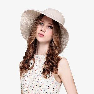 领30元券购买拉菲草草帽凉帽女沙滩小清新度假大草帽海边夏天太阳帽防晒遮阳帽