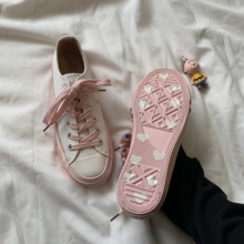 Huang Luolin Spring 2009 Pink Loving Bottom Canvas Shoes for Female Students