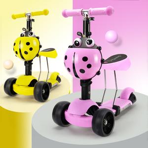 宝宝<span class=H>滑板车</span>儿童1-3岁可坐2岁扭扭车初学者女孩三轮闪光溜溜车男孩