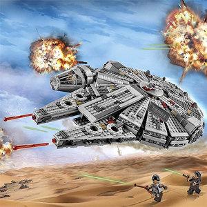 乐高太空宇宙<span class=H>飞船</span>星球大战组装模型<span class=H>积木</span>千年隼号战舰益智男孩玩具