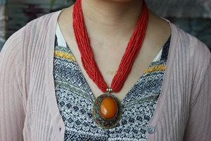 西藏尼泊尔饰品民族风格手工制作宫廷女式毛衣学生链子坠<span class=H>项链</span>包邮
