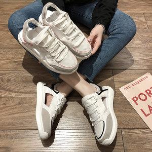 网红<span class=H>运动鞋</span>女ins2019女生流行鞋新款镂空女鞋百搭厚底老爹鞋子潮