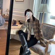 Suce's self-made short jacket for women in Spring and Autumn 2019 Short-style Baitao Korean version of the new relaxed BF original sleeping style self-cultivation jacket
