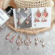 Five sets of ear clips with no ear hole, female moving net, simple, compact, cold and high-grade French Earrings