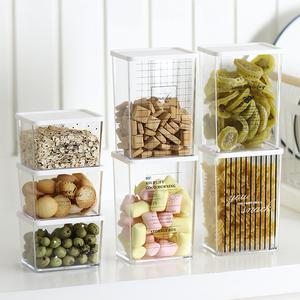 冰箱保鲜收纳盒厨房果蔬冷藏密封盒ps塑料带盖零食<span class=H>储物罐</span>厨房<span class=H>用品</span>