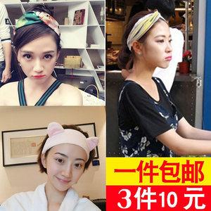 洗脸发带女网红明星同款韩国头箍宽边超仙百搭粉色少女心头饰发箍