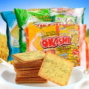 AJI OKASHI薯工坊马铃薯酸奶薄脆早餐小<span class=H>饼干</span>192g办公室休闲零食品