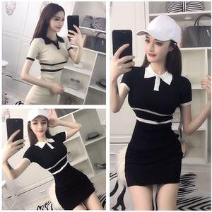 清纯甜美yy网络直播衣服装美女主播上镜学生装夜店性感可爱连衣裙