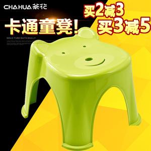 茶花塑料小凳子家用儿童宝宝凳可爱卡通凳小熊加厚防滑小板凳<span class=H>矮凳</span>