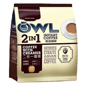 【包邮】新加坡OWL猫头鹰 越南生产<span class=H>二合一</span><span class=H>即溶</span><span class=H>咖啡</span>360克