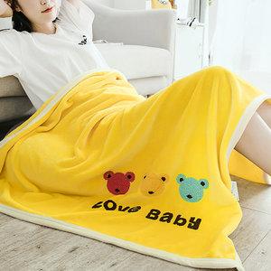 小毛毯云貂绒休闲毯子儿童加厚珊瑚绒法兰<span class=H>绒毯</span>单人学生午睡空调毯