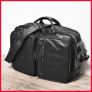 复古真皮多功能三用双肩包男软皮单双肩两用旅行背包商务电脑包潮