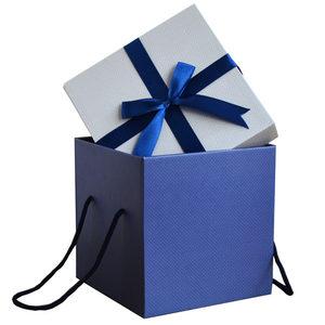 结婚正方形礼品盒<span class=H>婚庆</span>喜糖包装礼物盒生日满月<span class=H>大</span><span class=H>回</span><span class=H>礼盒</span>手提袋