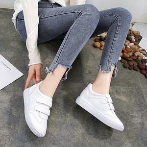 2019春季小码<span class=H>女鞋</span>子31 32 33内增高单鞋魔术贴小白鞋34中跟学生鞋