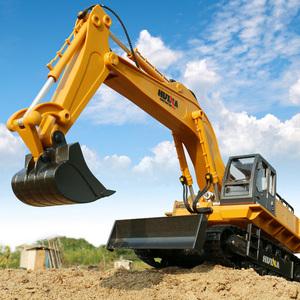 遥控挖掘机玩具工程车可充电动挖土机合金大号儿童钩机男孩方向盘