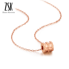 ZSK Jewelry Xiao Manwaist 18K Gold Necklace Female Clavicle Chain Pendant Set Chain Colour Gold Necklace Authentic AU750 Necklace
