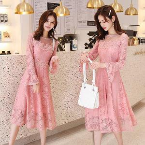 胖mm220斤高端定制隐形哺乳期喂奶连衣裙春季满月酒甜美仙女裙