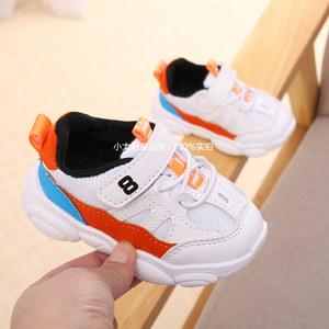 春季新款男宝宝小熊鞋子1-3岁2女童透气<span class=H>单鞋</span>婴儿学步鞋小童运动鞋