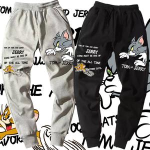 卡通联名猫和老鼠裤子情侣小脚束脚裤休闲<span class=H>卫裤</span>潮流ins定制长裤子