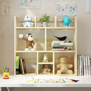 简易实木<span class=H>书架</span>多层儿童桌上储物柜经济型大落地学生桌面置物架迷你