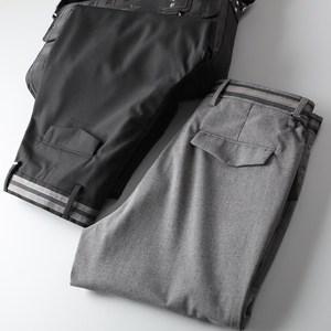 春夏装男裤 高端丝滑时尚织带微弹面料男士商务休闲修身<span class=H>西裤</span>