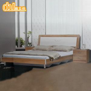 欧贝佳现代简约<span class=H>板式床</span>环保箱体床 1.5/1.8米双人床可定制特价包邮