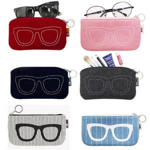 <span class=H>眼镜</span>袋抗压便携墨镜袋男女款太阳镜收纳包保护套布袋简约眼睛<span class=H>袋子</span>