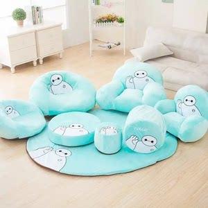 绿大白儿童成人懒人<span class=H>沙发</span>椅靠垫<span class=H>榻榻米</span>凳子套装组合毛绒玩具礼物