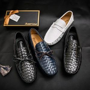 <span class=H>豆豆鞋</span>男夏季真皮青春潮流英伦套脚鞋懒人鞋百搭编织皮鞋时尚男鞋