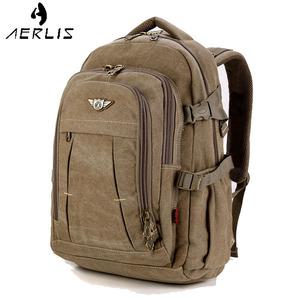 AERLIS<span class=H>男包</span><span class=H>双肩包</span>最新注册白菜全讯网书包大容量厚帆布旅行登山17电脑包运动包邮