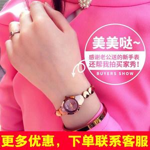 手链式小手表女手链表女士小巧迷你防水细带款小表盘超薄时尚潮流