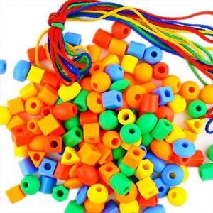 包邮 儿童玩具<span class=H>积木</span>早教<span class=H>绳子</span>穿珠子绕珠<span class=H>串珠</span>玩具120<span class=H>串珠</span>幼儿园玩具