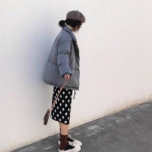 灰色棉服女2018新款韩版百搭时尚爆款面包服宽松学生冬季<span class=H>棉衣</span>短款