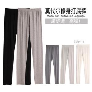 青宿 夏季 莫代尔<span class=H>打底裤</span>女薄款韩版显瘦外穿九分小脚裤子