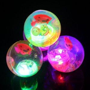 9.9包邮<span class=H>玩具</span>地摊创意儿童发光弹力球新奇特夜市货源小孩宝宝礼品