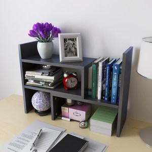 创意黑色白色桌上书架<span class=H>伸缩</span><span class=H>桌面</span>书柜儿童简易小型办公收纳架特价