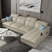 Leather Sofa Small Huxing Modern Simple Living Room Furnishing Three-seat 123 Sofa Combination Nordic Leather Art Sofa