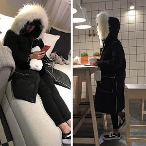 黑色棉袄女中长款2018冬季新款韩版宽松羽绒棉服百搭加厚棉衣外套