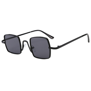 2019新款金属方框太阳<span class=H>眼镜</span>朋克复古风网红装饰搭配墨镜 3430