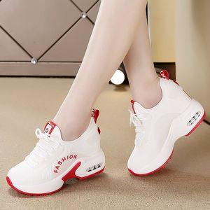 内增高女鞋运动鞋小白鞋网鞋透气网面百搭休闲鞋2019新款夏季鞋子
