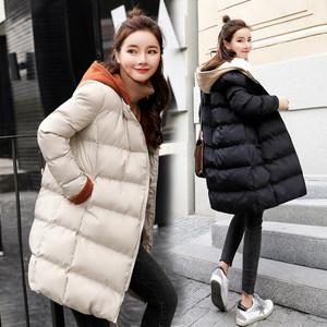 2018新款韩版冬季修身显瘦羽绒棉服女中长款时尚棉衣外套潮学院风