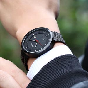 梵玥表男表时尚休闲手表学生防水石英表男士简约商务钢带皮带学院