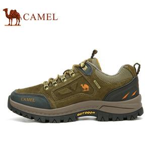 Camel/骆驼男<span class=H>鞋</span>牛皮<span class=H>运动</span><span class=H>休闲</span><span class=H>鞋</span>男女低帮防滑户外旅游<span class=H>徒步</span>登山<span class=H>鞋</span>男