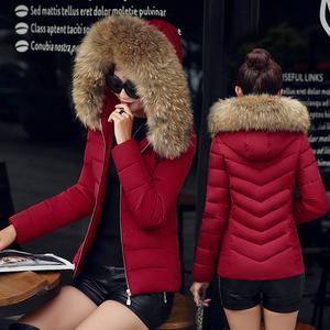 新款冬装大毛领女短款<span class=H>羽绒</span><span class=H>棉服</span>修身时尚棉衣<span class=H>韩版</span>冬季外套小棉袄潮