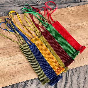 新款女包日本设计师褶皱包纯色帆布包环保购物袋简约百搭手提单肩