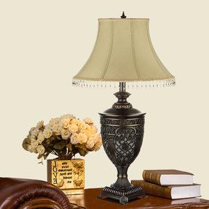 复古台灯欧式美式乡村奢华全铜家用装饰客厅灯大号别墅卧室床头灯